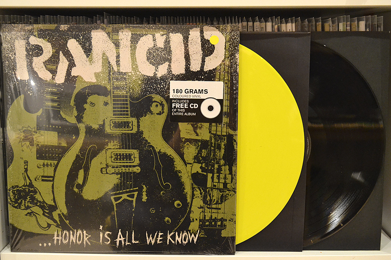 RANCID: HONOR IS ALL WE KNOW - Yellow + black vinyl - 12''