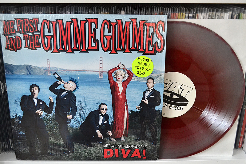 ME FIRST AND THE GIMME GIMMES: ARE WE NOT MEN? WE ARE DIVA! - silver w/ red swirl vinyl