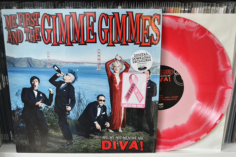 ME FIRST AND THE GIMME GIMMES: ARE WE NOT MEN? WE ARE DIVA! - pink w/ magenta swirl vinyl