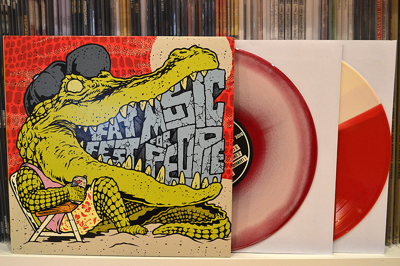 V/A: FAT MUSIC FOR FEST PEOPLE IV - tri-color + pink swirled vinyl