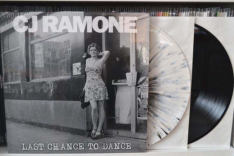 CJ RAMONE: LAST CHANCE TO DANCE - white w/ black splatter vinyl