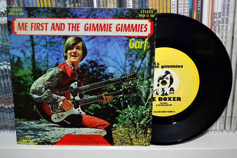 Me First And The Gimme Gimmes: Garf 7'' - Black vinyl, misprinted