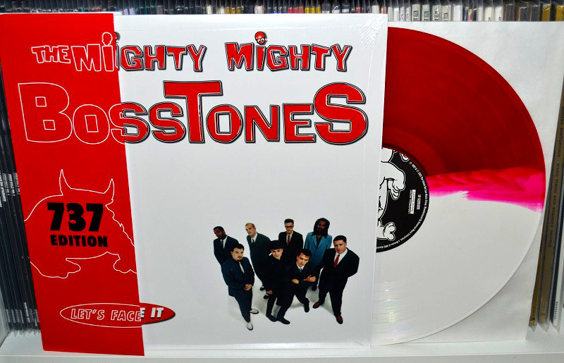The Mighty Mighty Bosstones: Let's Face It - Translucent red/opaque white