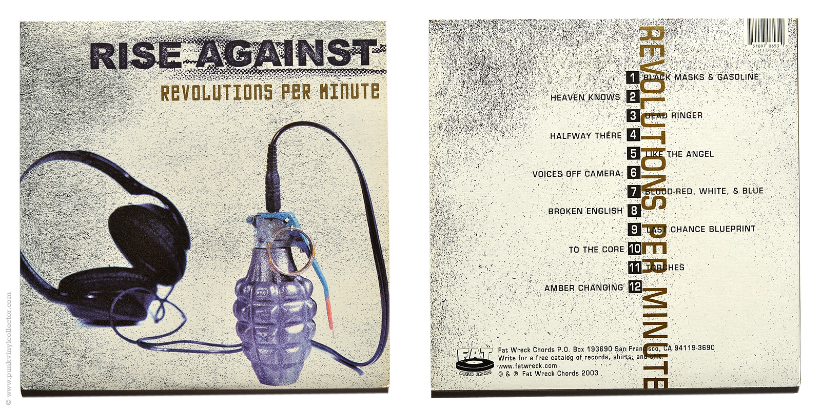 Rise against punk vinyl collector lyric sheet front back malvernweather Images
