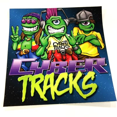 Cyber Tracks Sticker